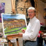 Mike in his  French studio looking baffled