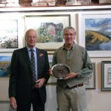 Mike receiving the Harrison and Walker prize from the High Sheriff of Shropshire