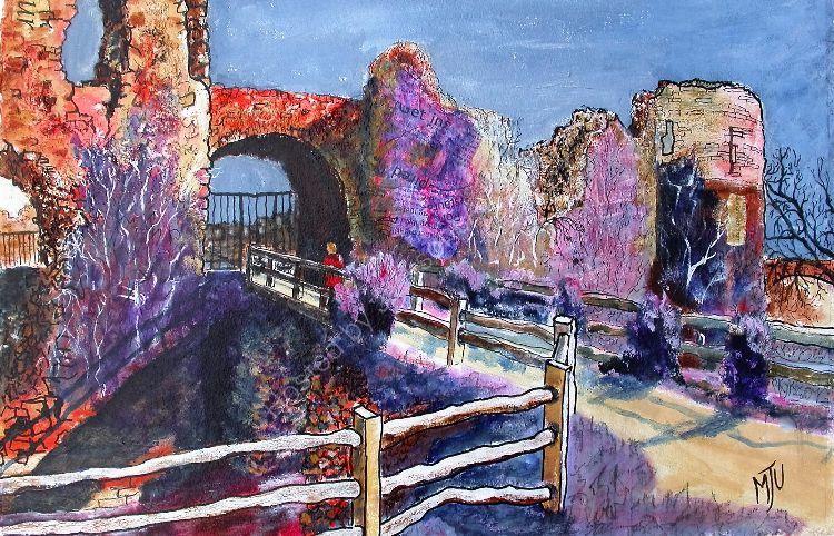 Pevensey Castle Sussex No2