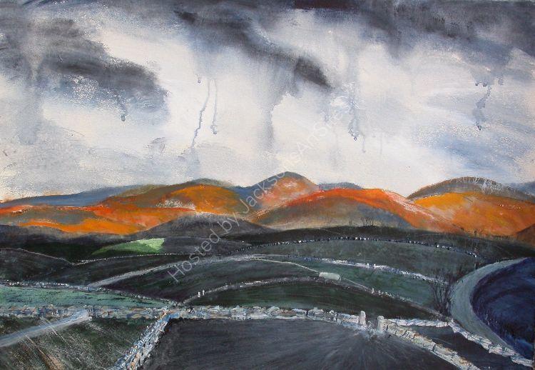 Rain Over the Howgills SOLD
