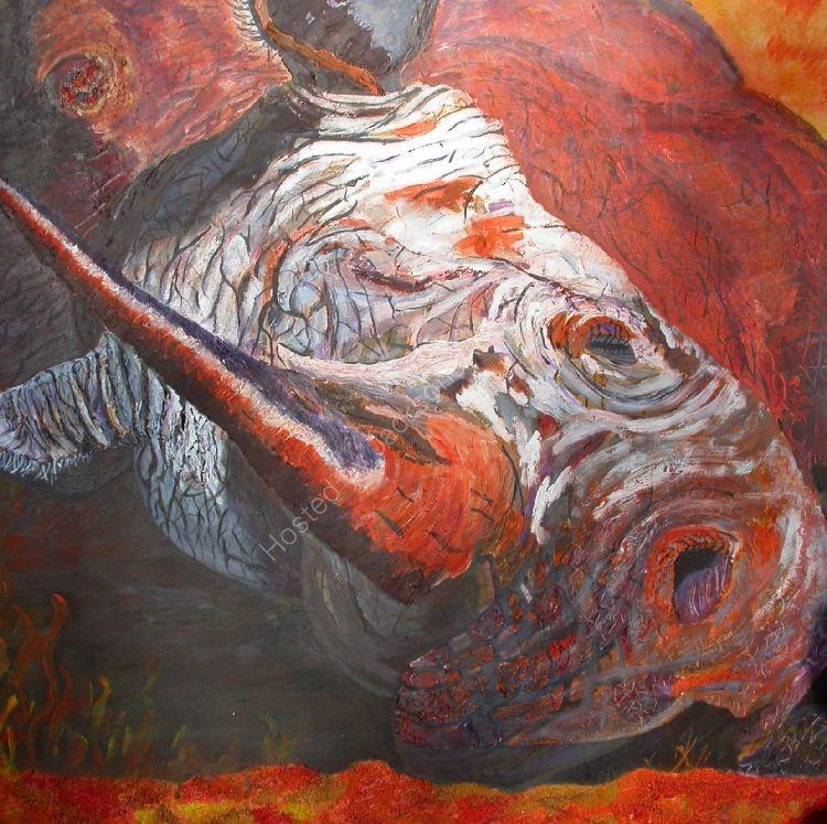 Rolling -Rhino-SOLD