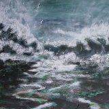 Storm -Hits the Beach  SOLD