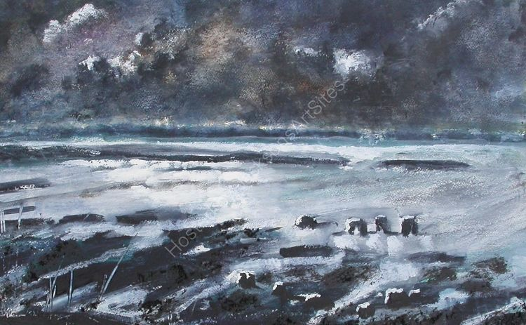 Storm  Over  the  Esturary  No 1 Appledore   SOLD