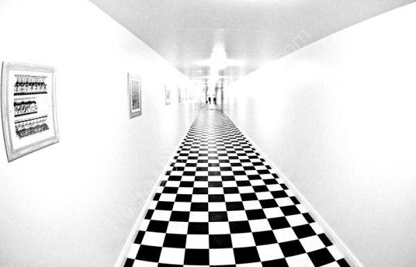 The black and white corridor