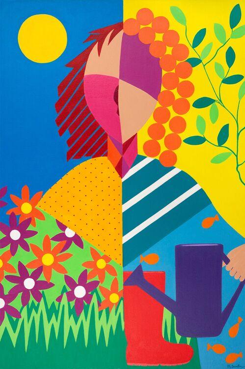 Garden Days Fine Art Giclee Limited Edition Print