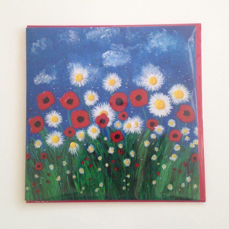 """Poppies & Daisies"" card"