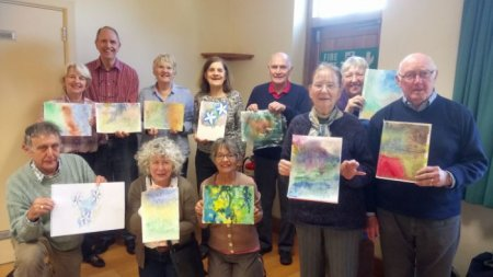 Experimental Watercolours Workshop with Overton Art Group