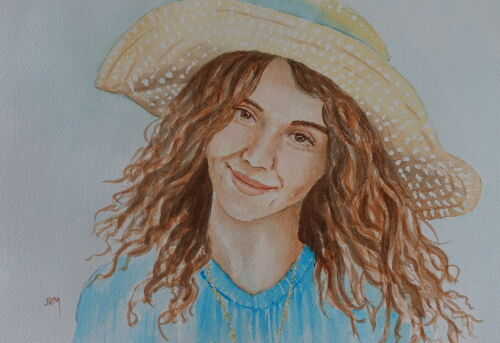 Girl in a Summer Hat