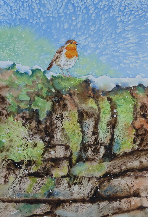 Robin on the Old Wall