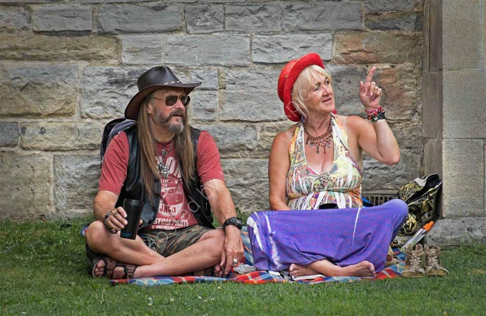 Two Aging Hippies