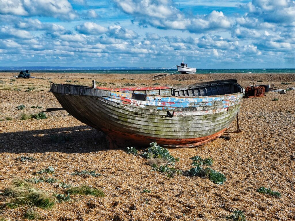 Derelict Boat at Dungeness