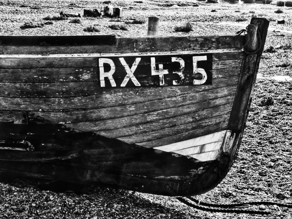 Remains of RX435 at Dungeness
