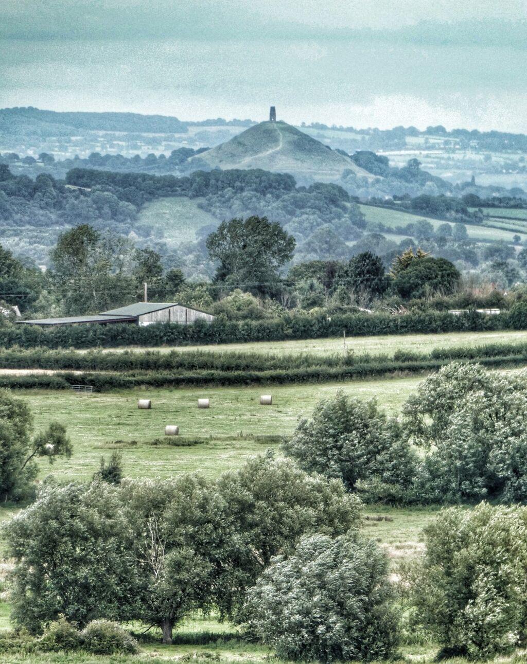 Glastonbury Tor from Burrow Mump