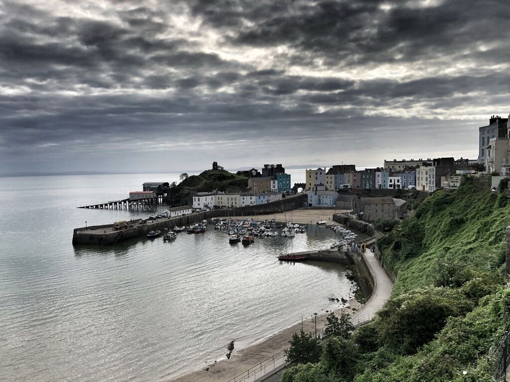 Tenby Harbour, Snapseed Edit