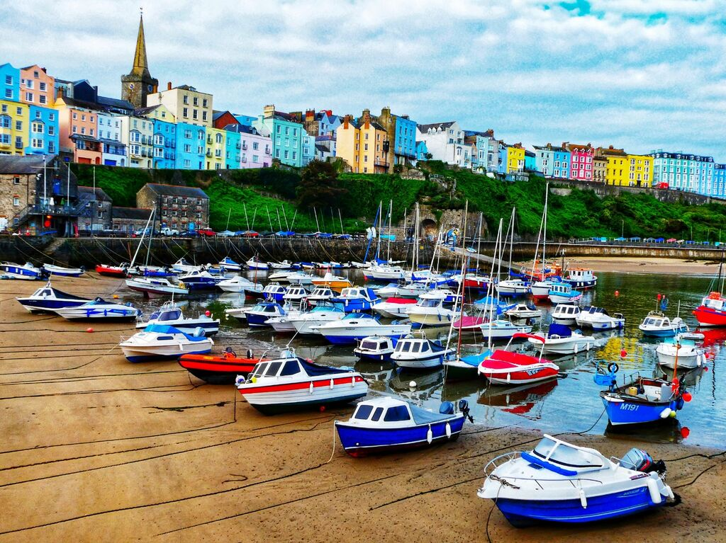 Boats In Tenby Harbour
