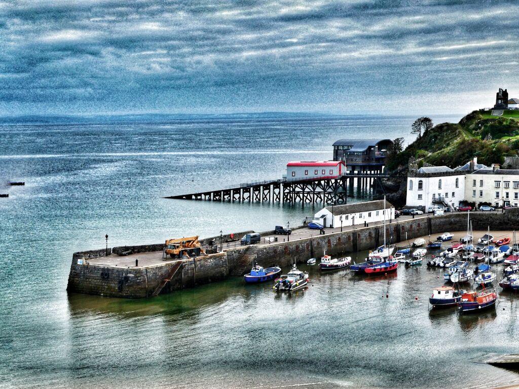 Tenby Harbour, Snapseed Edit