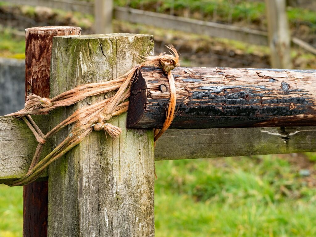 Old Fashioned Fence Repair