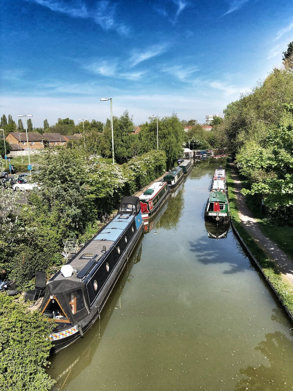 Oxford Canal from the Tom Rolt Bridge