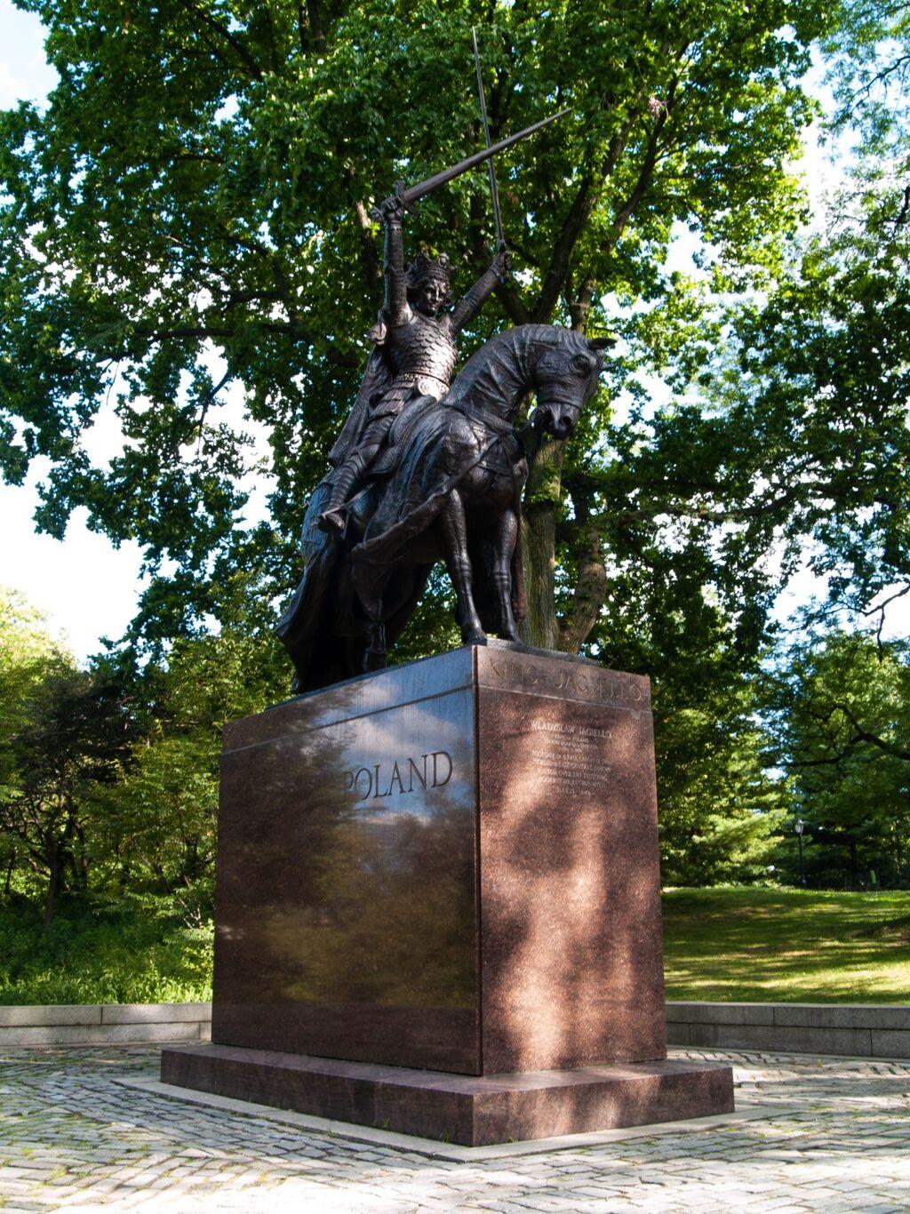 King Jagiello Monument, Central Park