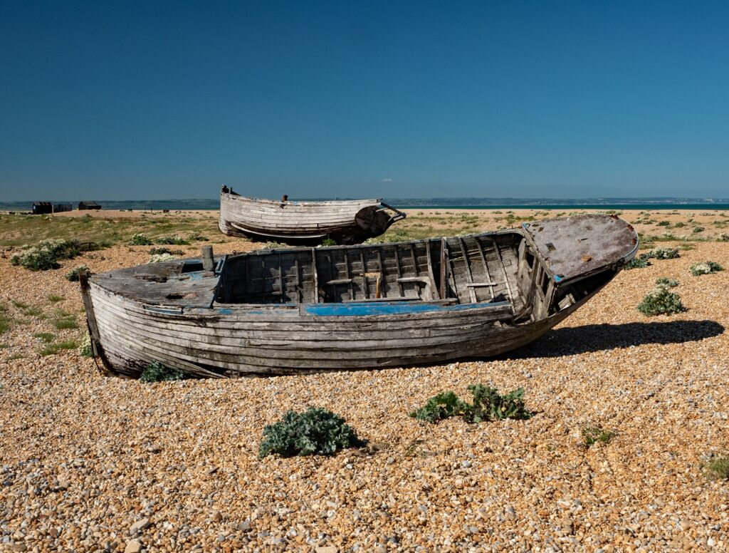 Two Abandoned Boats at Dungeness