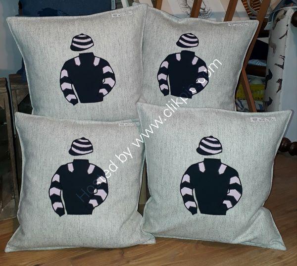 Jockey silk cushion