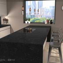 CRL Gold Noir Quartz Kitchen Work Surfaces