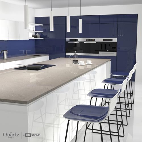 CRL Grey Mist Quartz Kitchen Surfaces