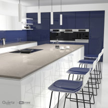 CRL Grey Mist Quartz Kitchen Surfaces