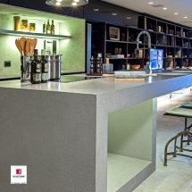 Gris Expo Quartz Kitchen tops by Silestone