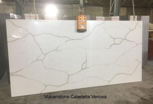 Slab of Vulcanstone Calacatta Venosa
