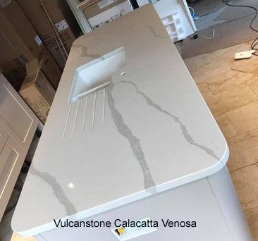 Worktop of Calacatta Venosa being Installed