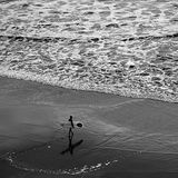 Lonely surfer