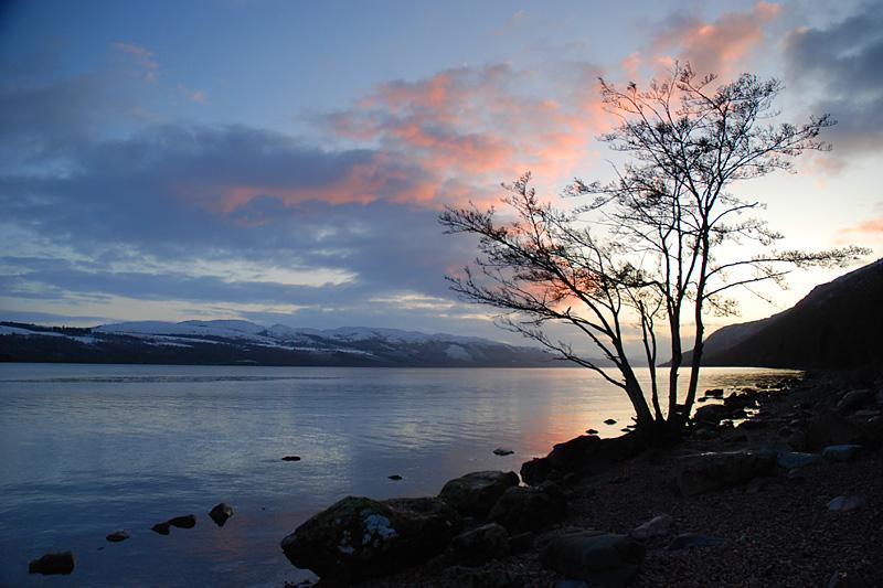 Sunset at Loch Ness, Scotland