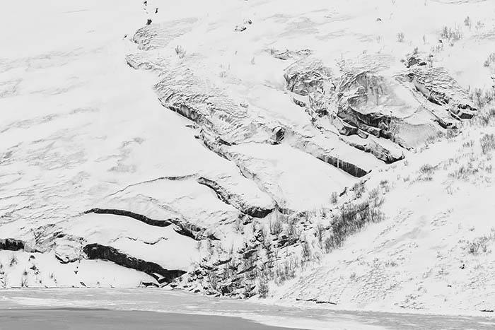 IJswand in zwart&wit