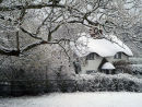 Cottage in snow