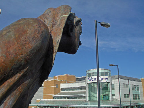 Sculpture and West Quay