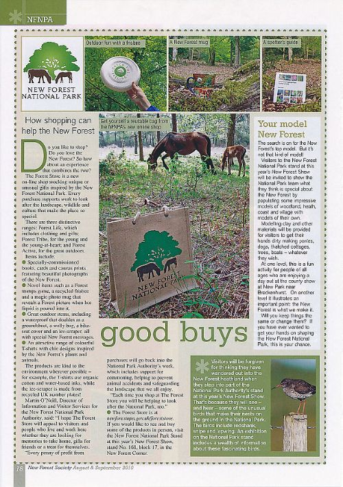 Article in New Forest Society magazine