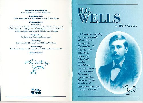 HG Wells in West Sussex book