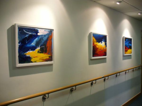 paintings for new marie curie hospice building