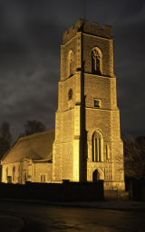 Coltishall Church in the Moonlight