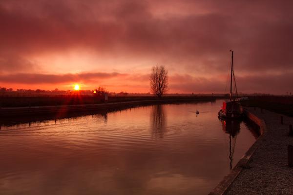 Sunset at Ludham bridge