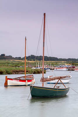 Boats in Morston Quay