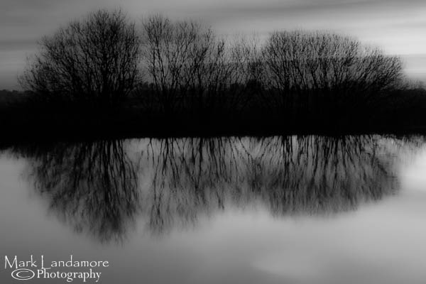 Sunset Reflections (mono)