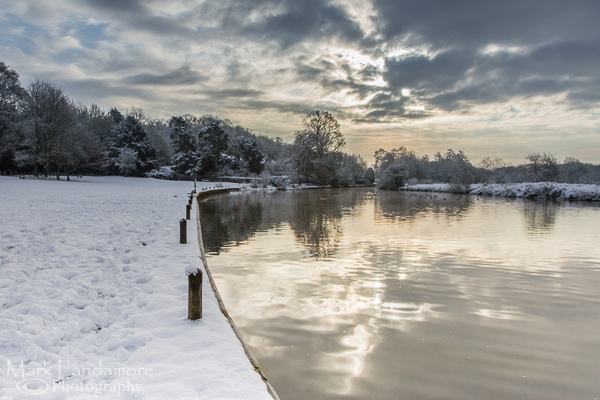Snow covered  Coltishall Common
