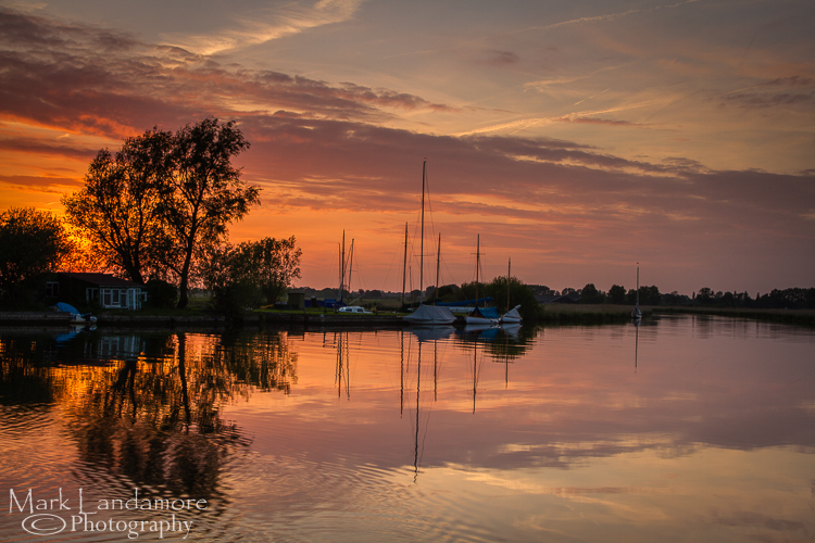 Sunset over Ludham Marshes