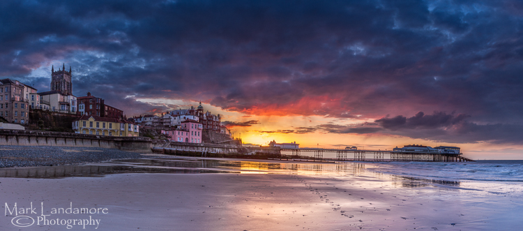Cromer Pier under threatening skies