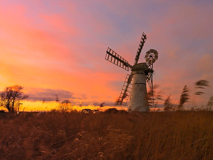 Golden Sunset at Thurne Mill