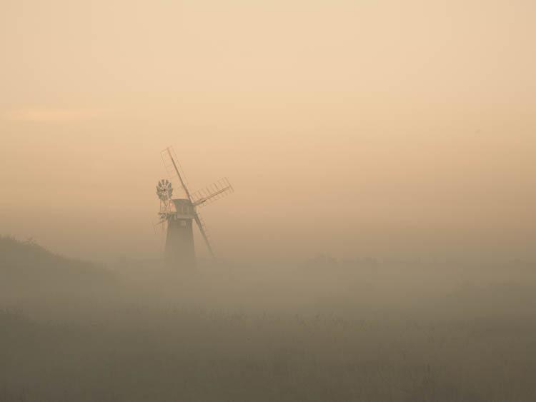 St Benet's Windpump in the Mist