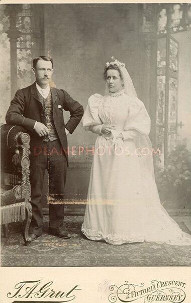 John Ernest Dorey & wife Mary Louise Mauger Wedding