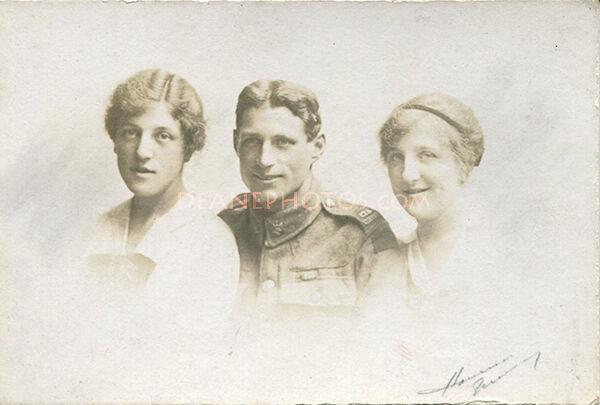 The Three Lees in Guernsey 1918. Eileen Edgar & Phylis